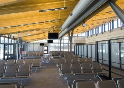 St Cloud Airport waiting area
